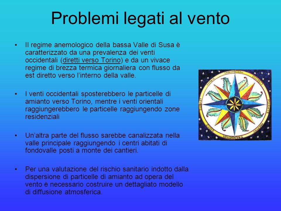 Il regime anemologico della bassa Valle di Susa è caratterizzato da una prevalenza dei venti occidentali (diretti verso Torino) e da un vivace regime