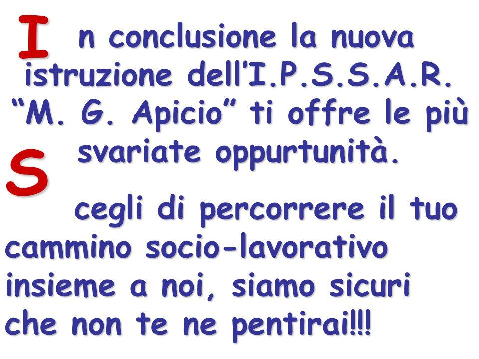 n conclusione la nuova istruzione dellI.P.S.S.A.R.