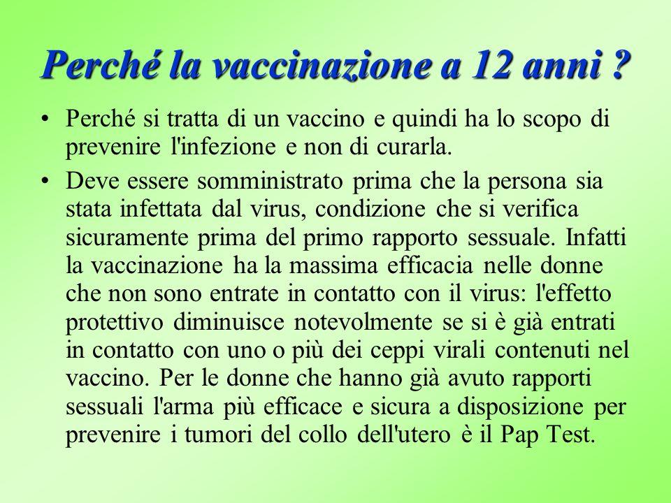 Perché la vaccinazione a 12 anni .