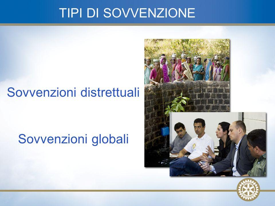 9 Sovvenzioni distrettuali Sovvenzioni globali TIPI DI SOVVENZIONE