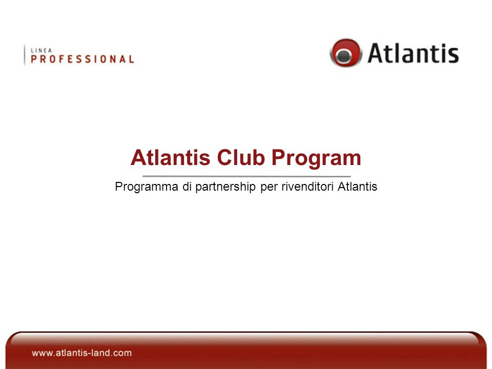 Atlantis Club Program Programma di partnership per rivenditori Atlantis