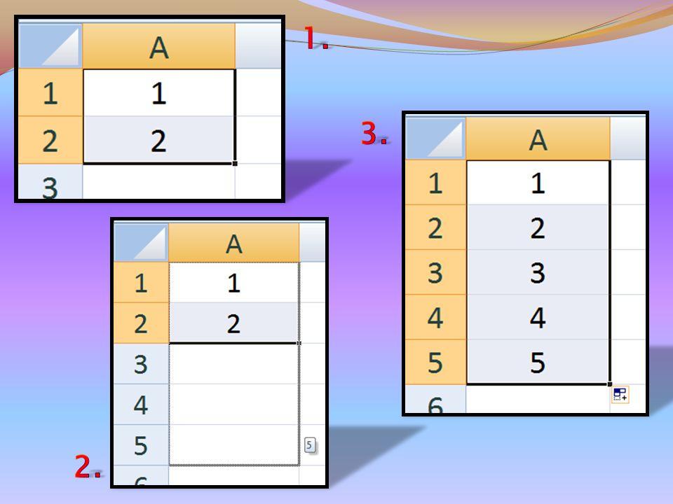 Con i numeri ne devo scrivere almeno due, evidenziare le due celle in cui sono contenuti e trascinando, con il solito quadratino di riempimento, mi al