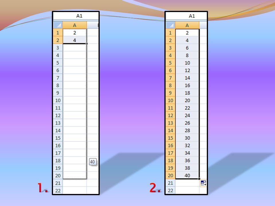 Inoltre se per esempio volessi scrivere i primi venti numeri pari, basterebbe scriverne solo i primi due e con lo stesso procedimento spiegato in prec