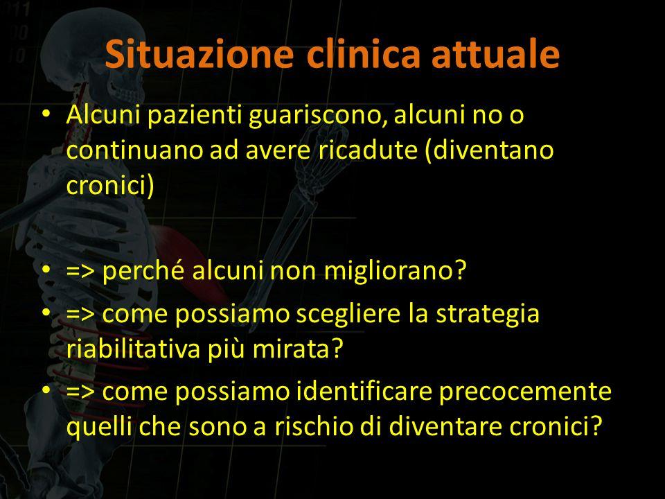 Situazione clinica attuale Alcuni pazienti guariscono, alcuni no o continuano ad avere ricadute (diventano cronici) => perché alcuni non migliorano? =