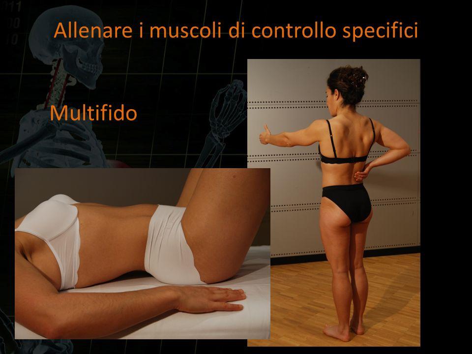 Allenare i muscoli di controllo specifici Multifido
