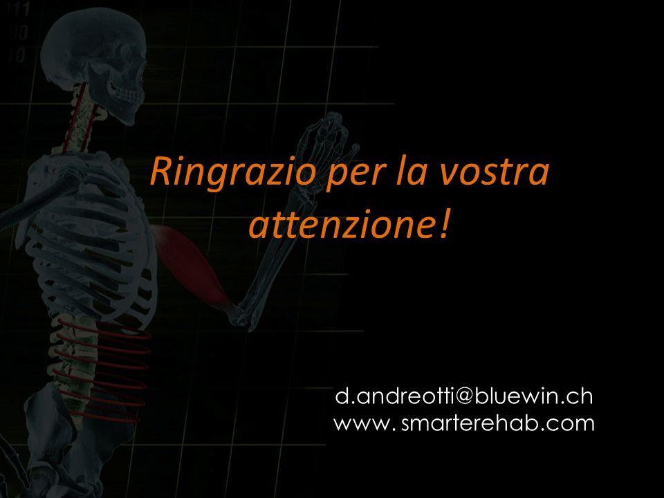 Ringrazio per la vostra attenzione! d.andreotti@bluewin.ch www. smarterehab.com