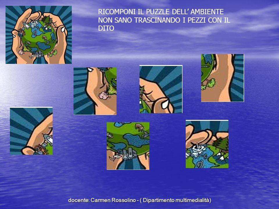 RIPETI IL RITMO DEI RIFIUTI docente: Carmen Rossolino - ( Dipartimento multimedialità)