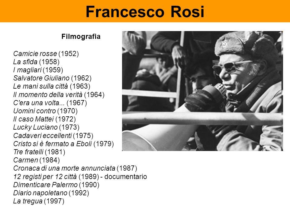 Filmografia Camicie rosse (1952) La sfida (1958) I magliari (1959) Salvatore Giuliano (1962) Le mani sulla città (1963) Il momento della verità (1964)