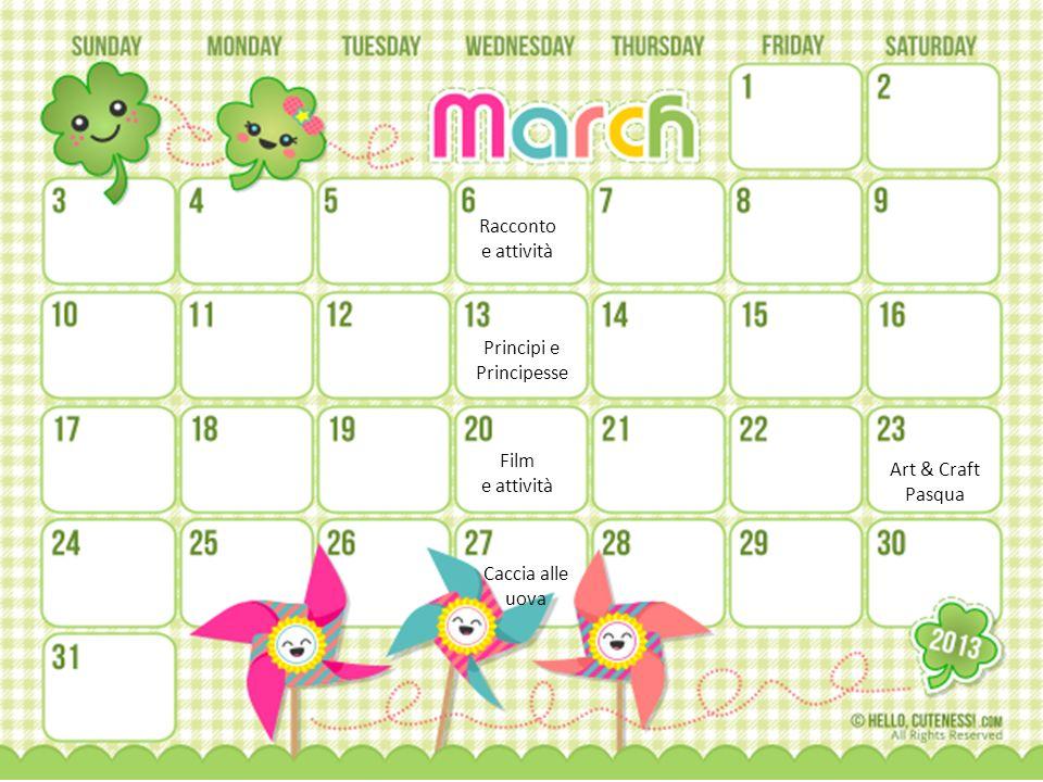 Racconto e attività Film e attività Caccia alle uova Art & Craft Pasqua Principi e Principesse