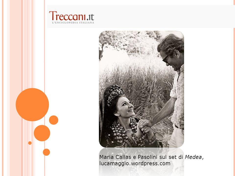 Maria Callas e Pasolini sul set di Medea, lucamaggio.wordpress.com