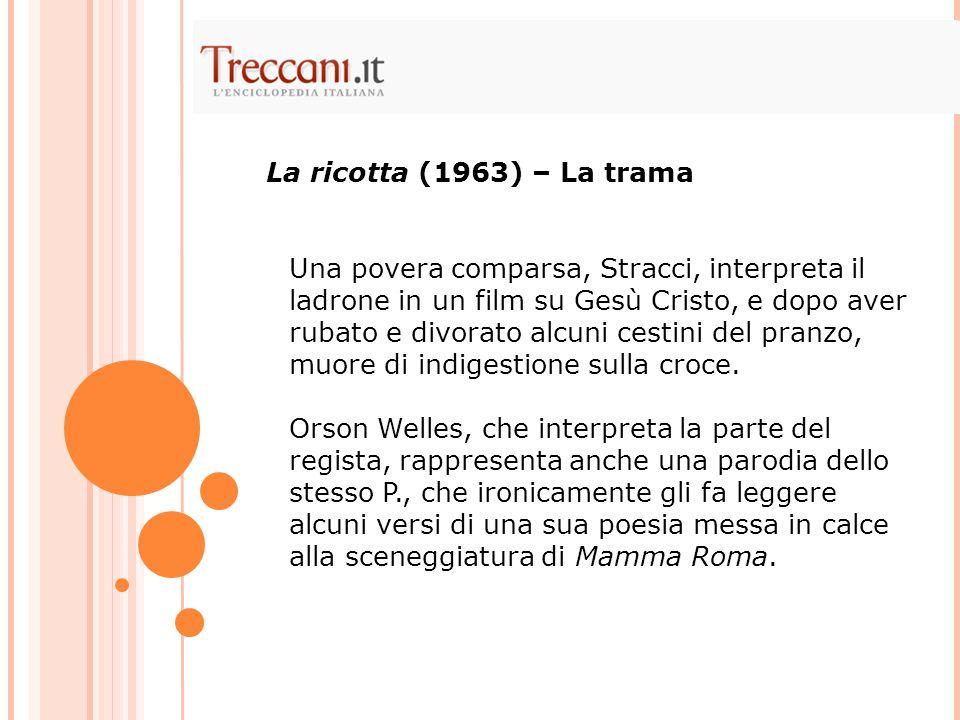 Pasolini sul set non parla di cinema, ma di disegni e dipinti.