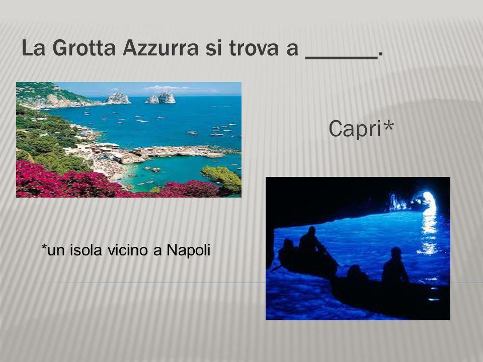 Da Napoli vediamo il mare e ______. il Vesuvio* *un vulcano