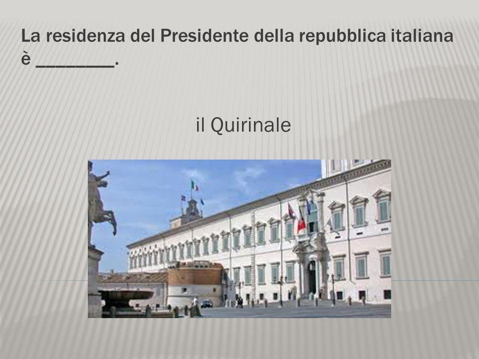 Il capo del governo italiano è _______. il presidente Il Presidente della Repubblica Giorgio Napolitano