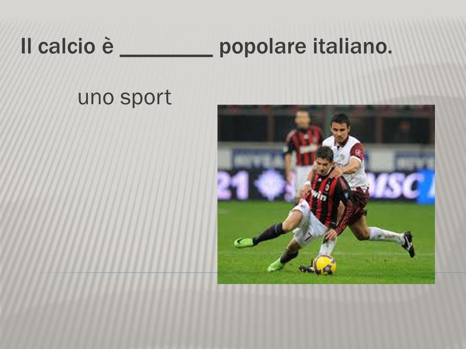 Lo sport nazionale dItalia è ______. il calcio