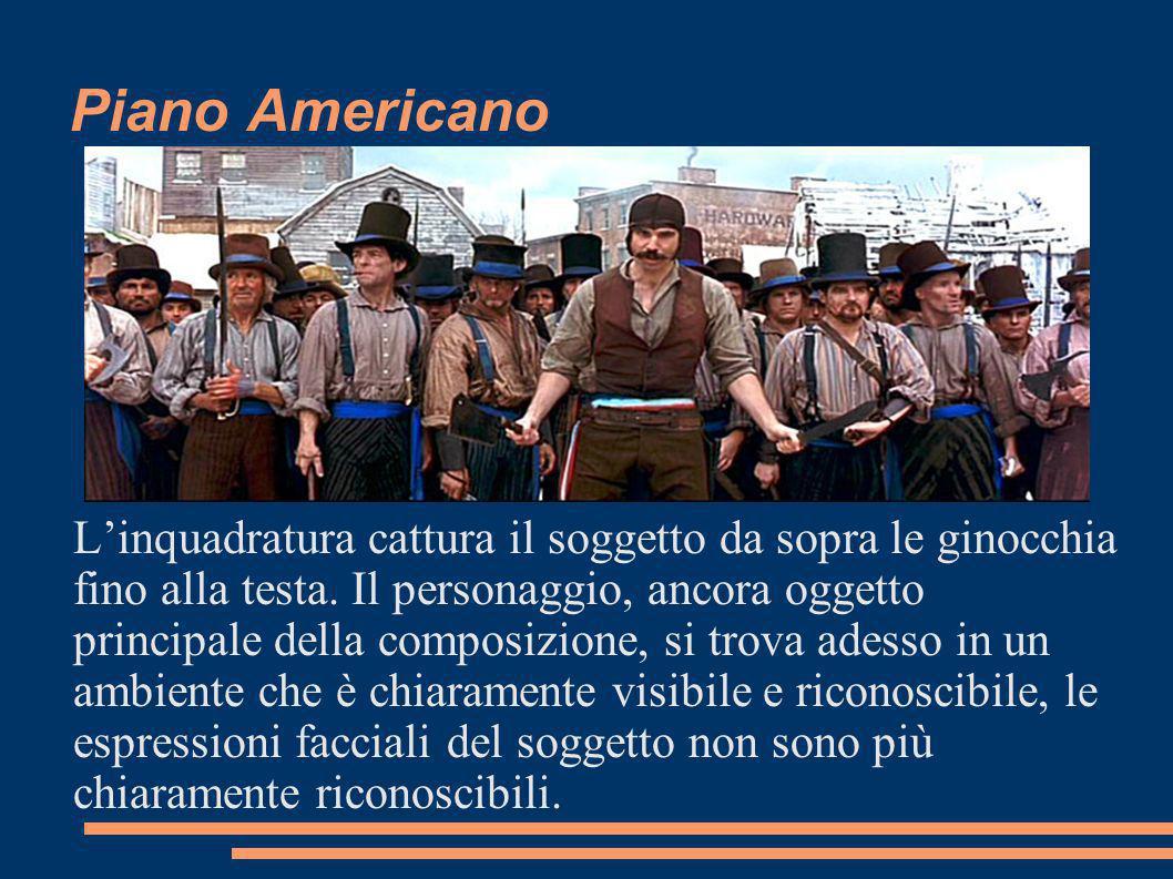 Piano Americano Linquadratura cattura il soggetto da sopra le ginocchia fino alla testa.