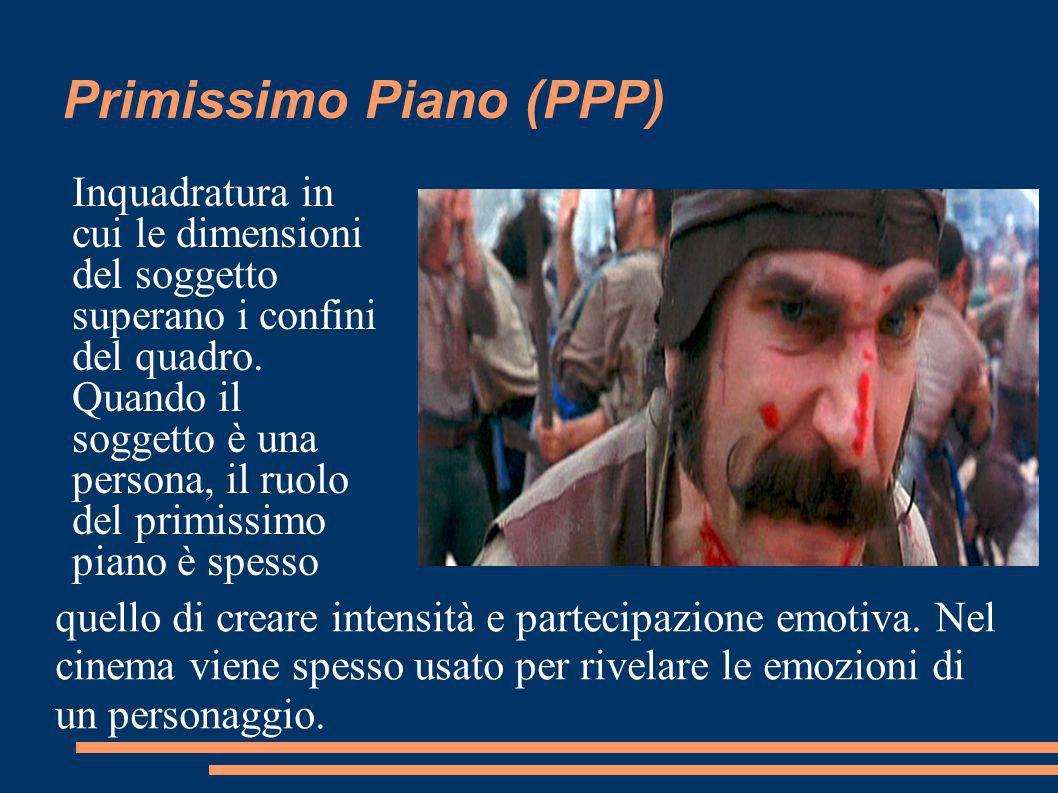 Primissimo Piano (PPP) Inquadratura in cui le dimensioni del soggetto superano i confini del quadro.
