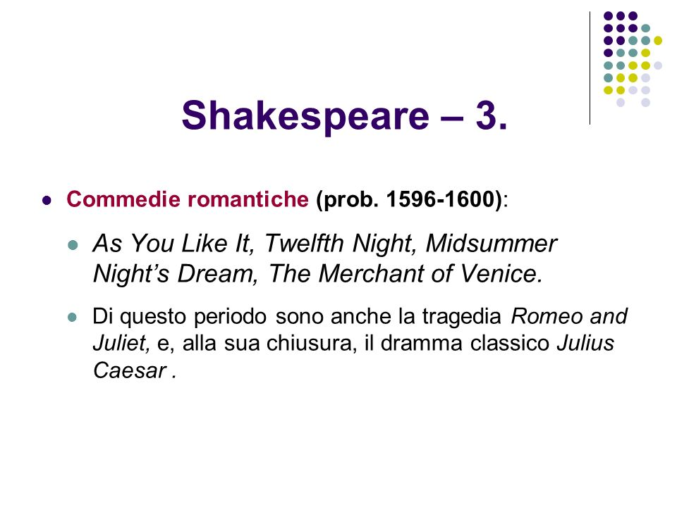 Shakespeare – 4 A.