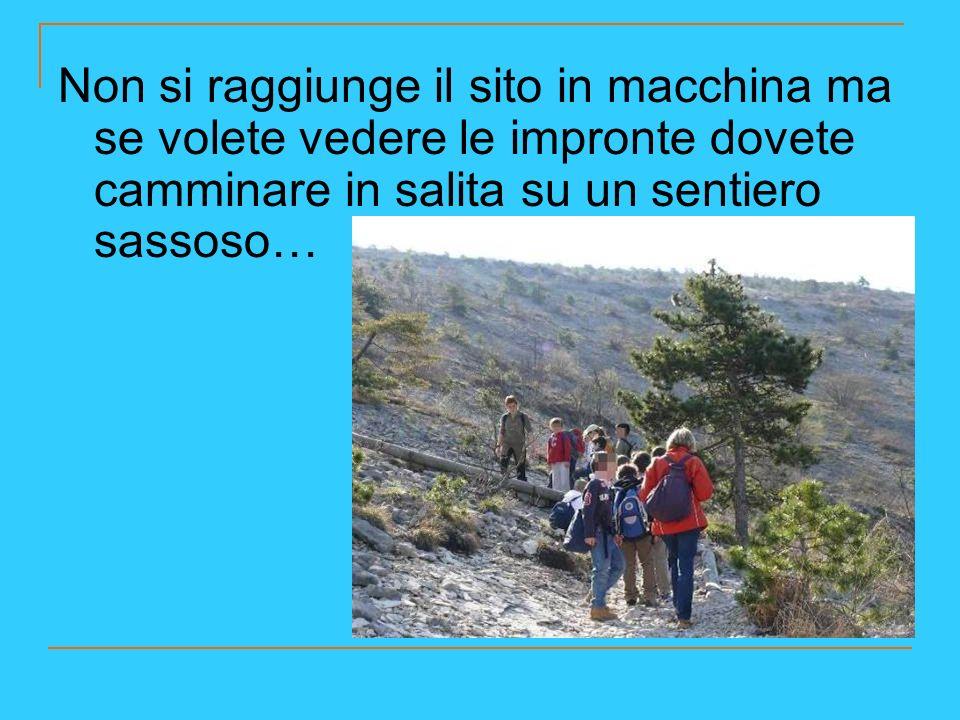 …e quindi dovete vestirti in modo adeguato con comodi scarponcini adatti a camminare in montagna.