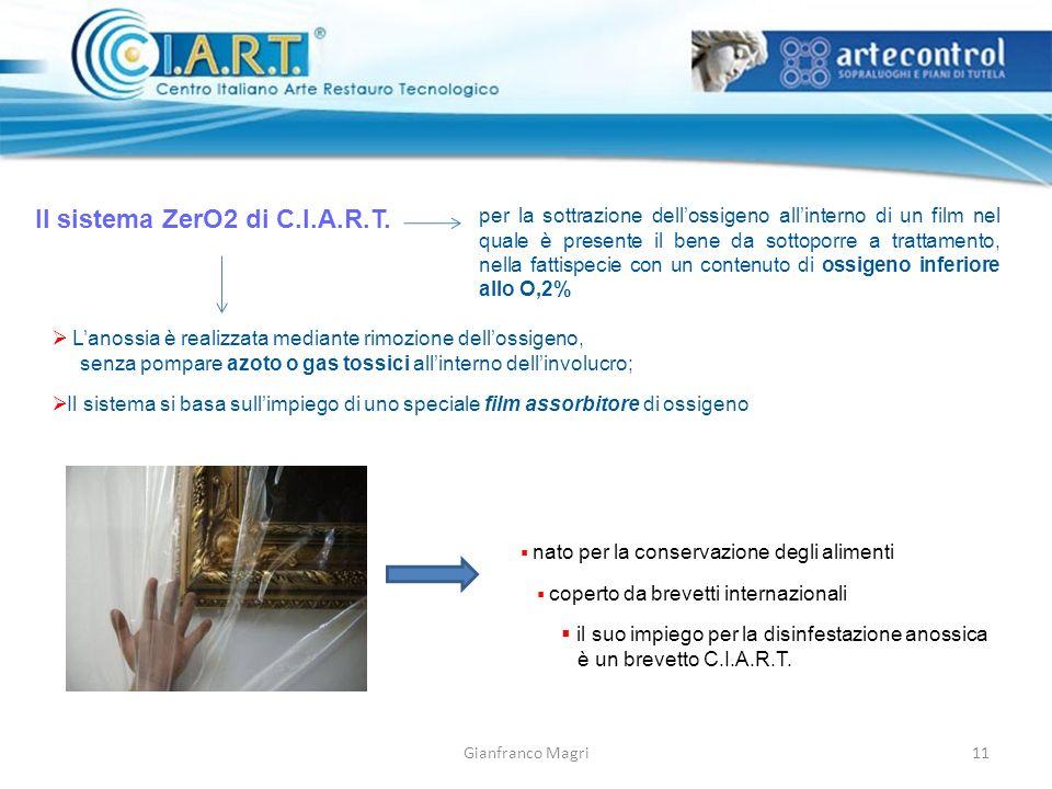 Gianfranco Magri Il sistema ZerO2 di C.I.A.R.T. per la sottrazione dellossigeno allinterno di un film nel quale è presente il bene da sottoporre a tra