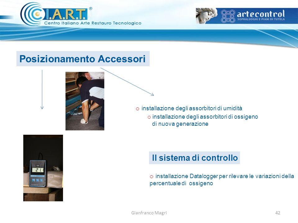 Gianfranco Magri Posizionamento Accessori o installazione degli assorbitori di umidità o installazione degli assorbitori di ossigeno di nuova generazi