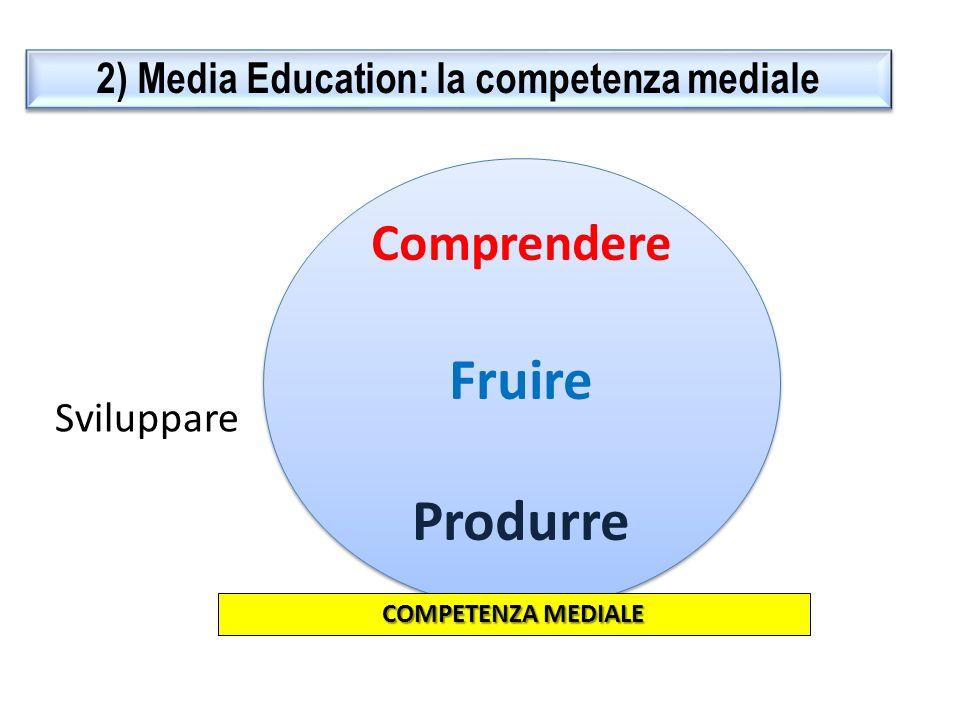 3) Media Education: dalla teoria alla pratica DECODIFICA PRODUZIONE Non solo semplice lettura dei media, ma vera e propria produzione, cioè costruzione di un prodotto.