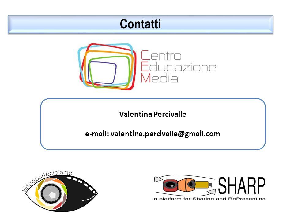 Contatti Valentina Percivalle e-mail: valentina.percivalle@gmail.com