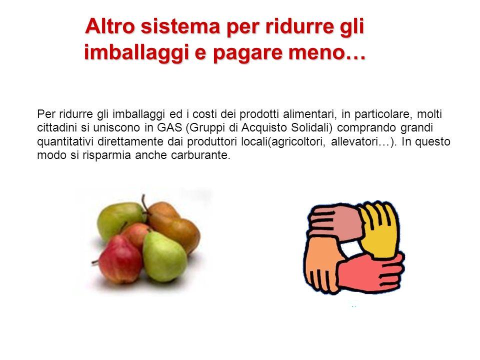Altro sistema per ridurre gli imballaggi e pagare meno… Per ridurre gli imballaggi ed i costi dei prodotti alimentari, in particolare, molti cittadini