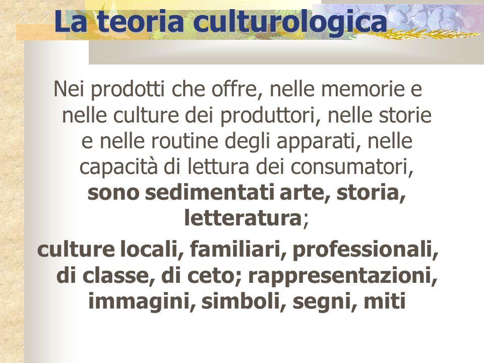 Nei prodotti che offre, nelle memorie e nelle culture dei produttori, nelle storie e nelle routine degli apparati, nelle capacità di lettura dei consu