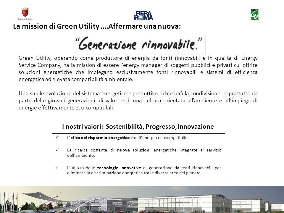 Green Utility, operando come produttore di energia da fonti rinnovabili e in qualità di Energy Service Company, ha la mission di essere lenergy manage