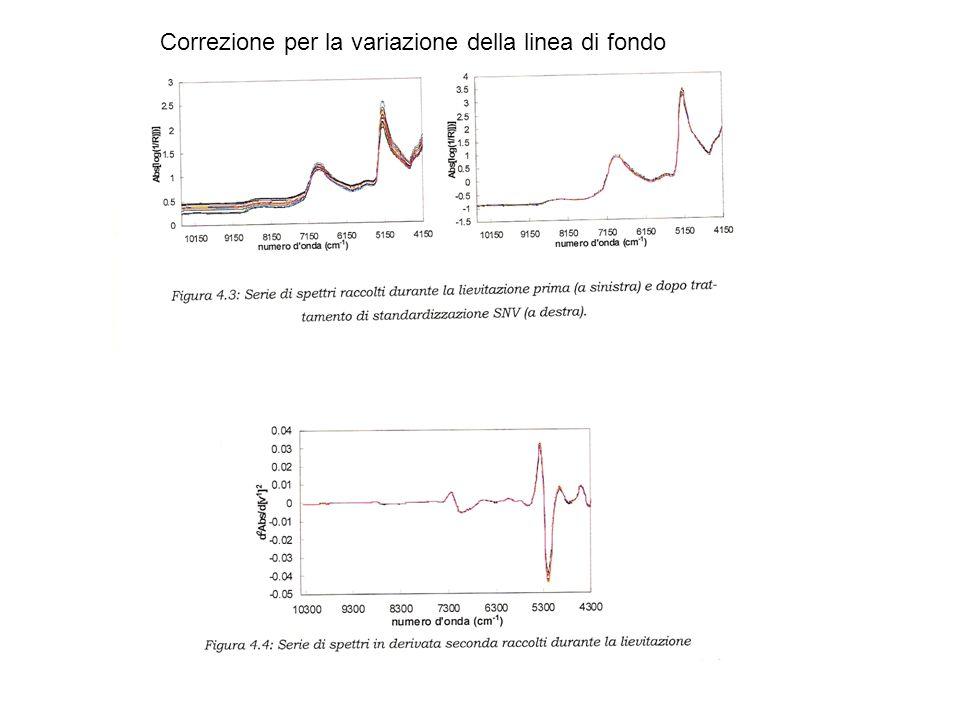 Correzione per la variazione della linea di fondo