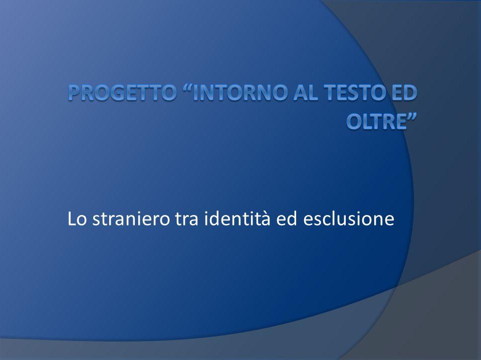 Progetto Intorno al testo ed oltre.Teatro Stabile di Genova Classe IV I Prof.