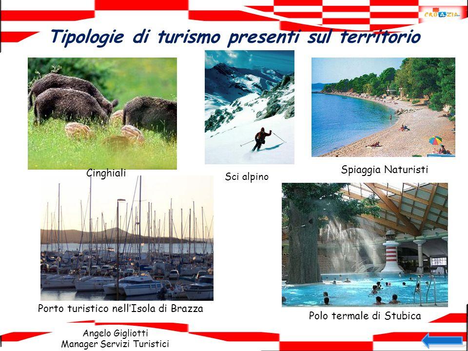 Angelo Gigliotti Manager Servizi Turistici Tipologie di turismo presenti sul territorio Cinghiali Sci alpino Spiaggia Naturisti Porto turistico nellIs