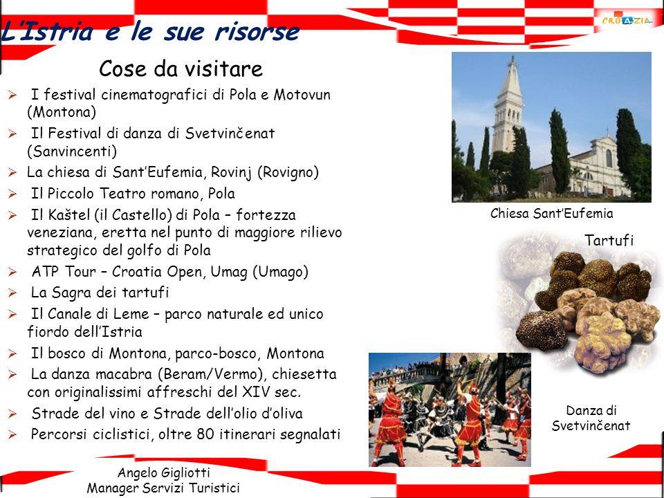 Angelo Gigliotti Manager Servizi Turistici LIstria e le sue risorse Cose da visitare I festival cinematografici di Pola e Motovun (Montona) Il Festiva