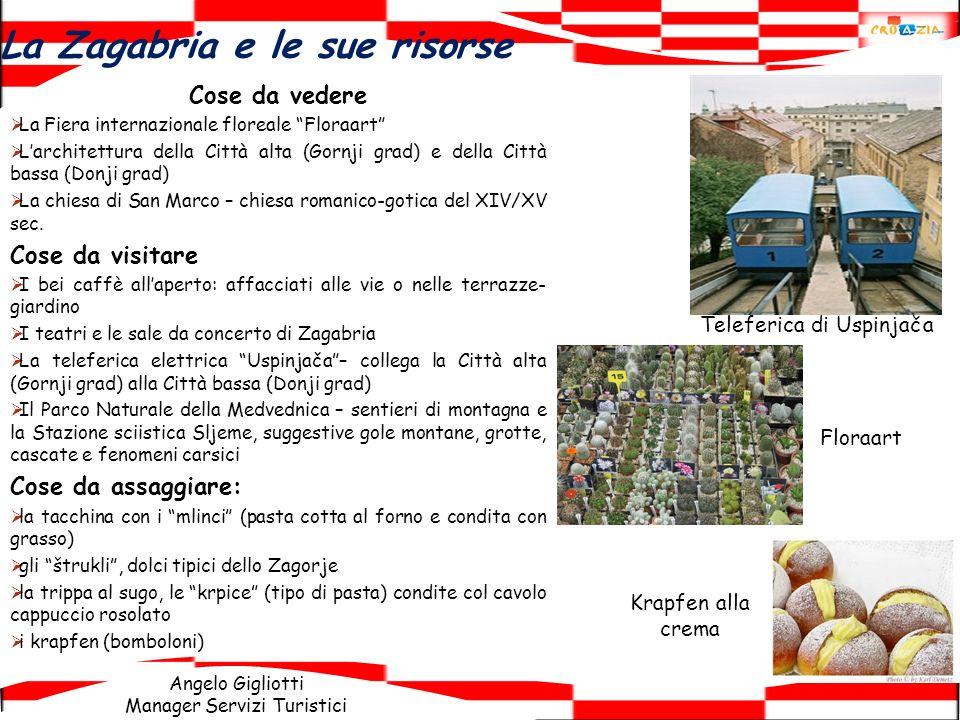 Angelo Gigliotti Manager Servizi Turistici La Zagabria e le sue risorse Cose da vedere La Fiera internazionale floreale Floraart Larchitettura della C