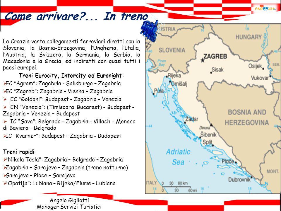 Angelo Gigliotti Manager Servizi Turistici La Croazia vanta collegamenti ferroviari diretti con la Slovenia, la Bosnia-Erzegovina, lUngheria, lItalia,