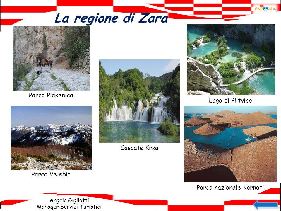 Angelo Gigliotti Manager Servizi Turistici La regione di Zara Parco Plakenica Lago di Plitvice Parco Velebit Parco nazionale Kornati Cascate Krka