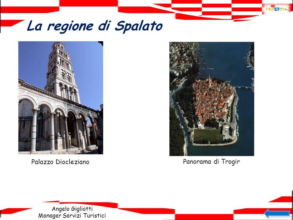 Angelo Gigliotti Manager Servizi Turistici La regione di Spalato Palazzo Diocleziano Panorama di Trogir