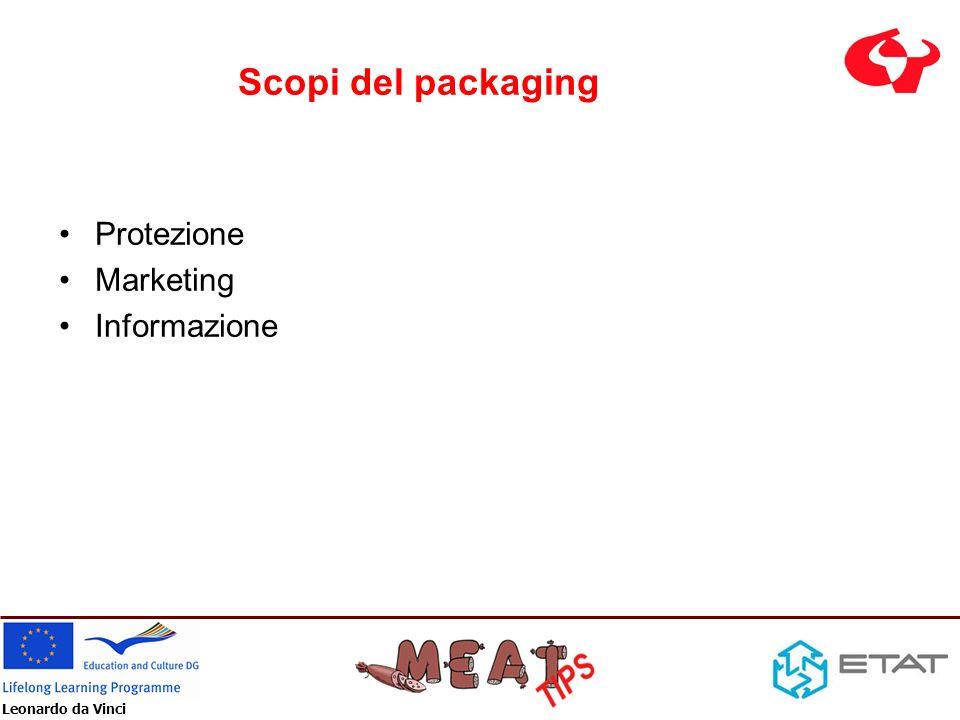 Leonardo da Vinci Scopi del packaging Protezione Marketing Informazione