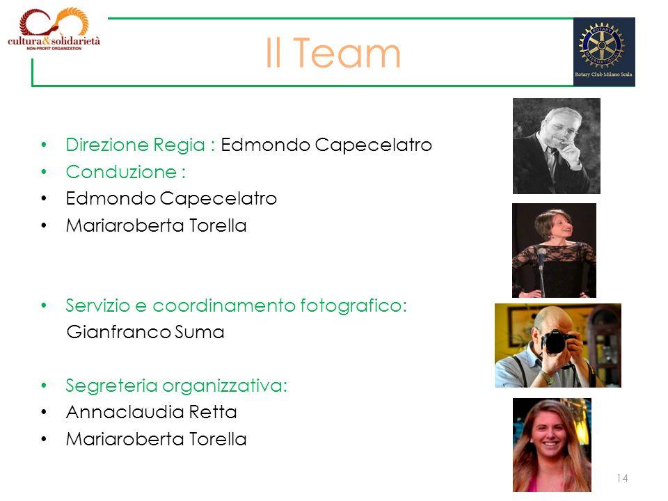 Direzione Regia : Edmondo Capecelatro Conduzione : Edmondo Capecelatro Mariaroberta Torella Servizio e coordinamento fotografico: Gianfranco Suma Segr