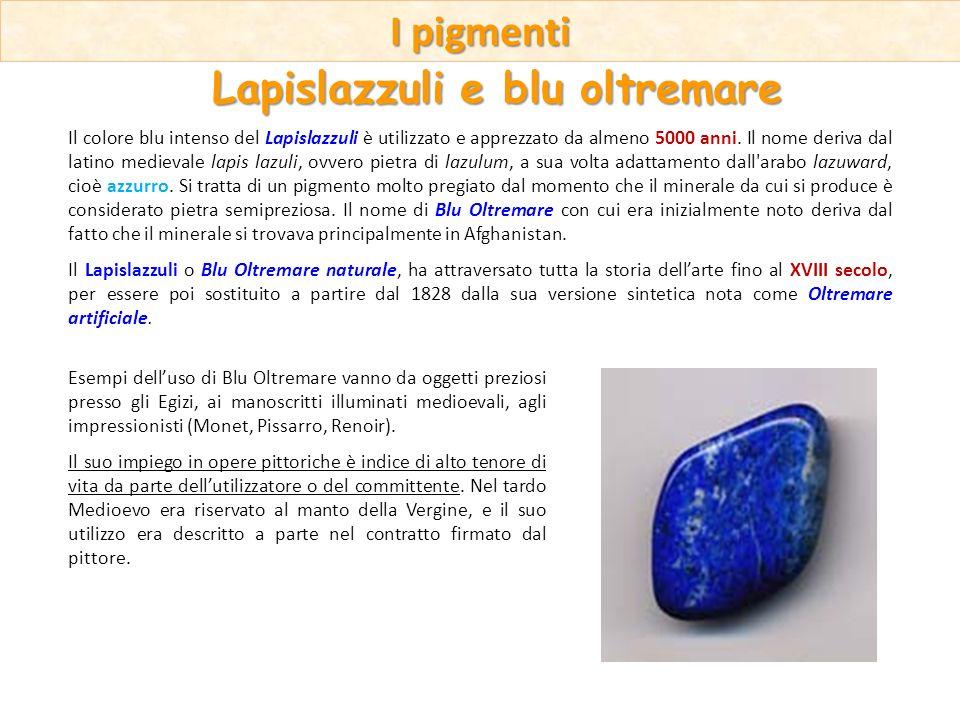 Il colore blu intenso del Lapislazzuli è utilizzato e apprezzato da almeno 5000 anni. Il nome deriva dal latino medievale lapis lazuli, ovvero pietra