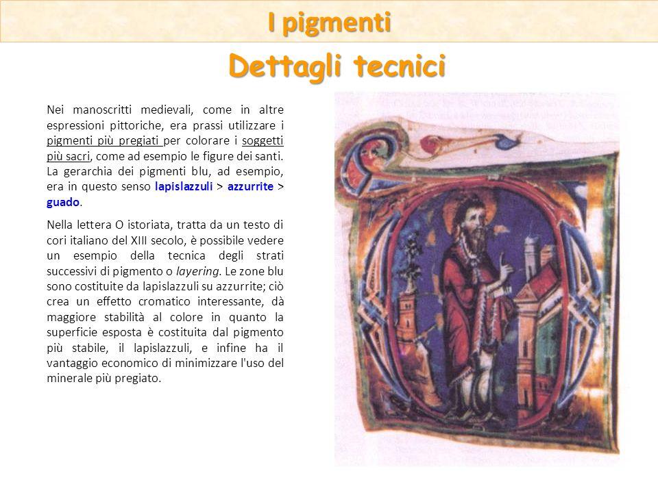Nei manoscritti medievali, come in altre espressioni pittoriche, era prassi utilizzare i pigmenti più pregiati per colorare i soggetti più sacri, come