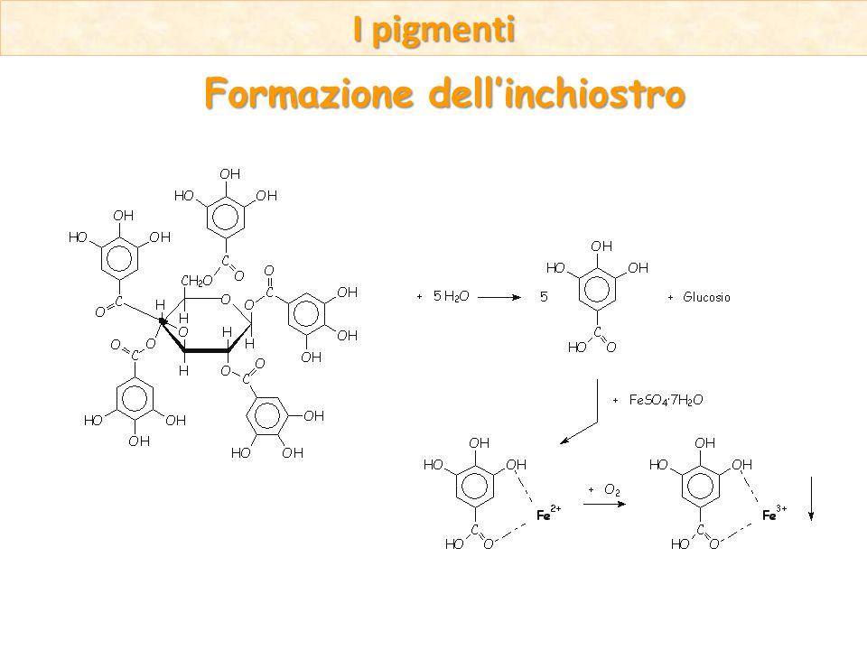 I pigmenti Formazione dellinchiostro