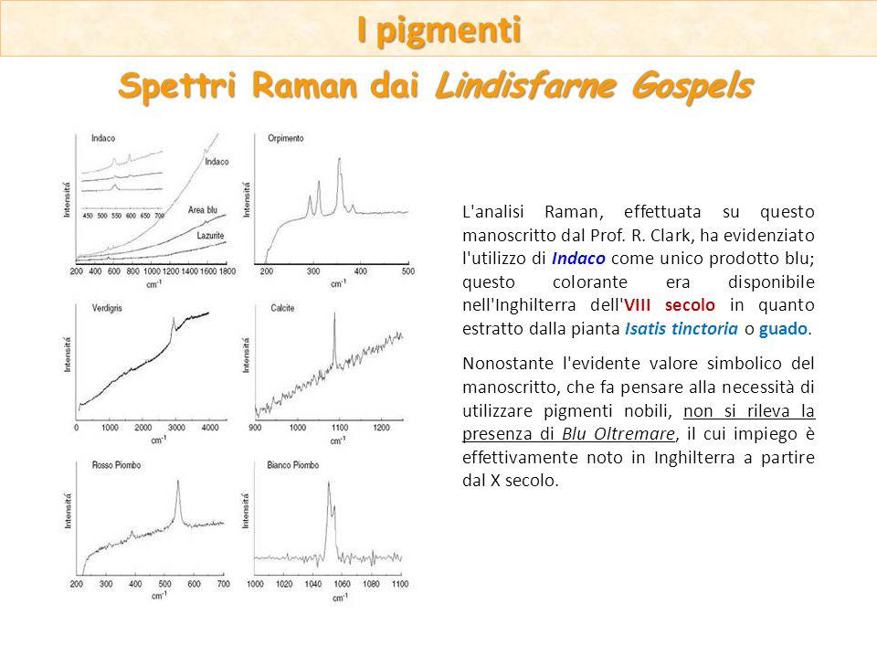 L'analisi Raman, effettuata su questo manoscritto dal Prof. R. Clark, ha evidenziato l'utilizzo di Indaco come unico prodotto blu; questo colorante er
