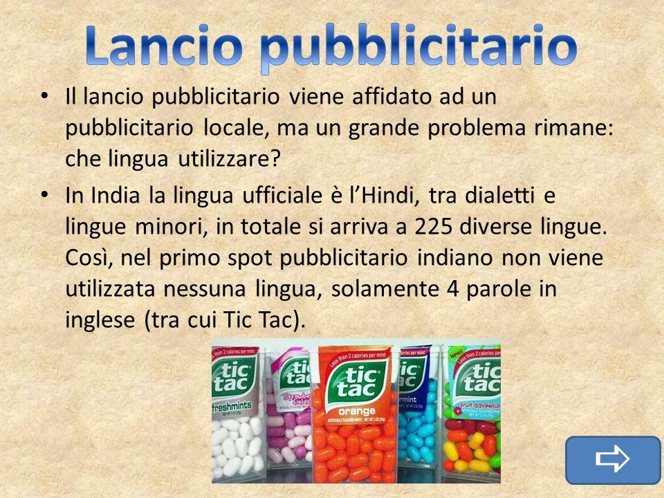 Il lancio pubblicitario viene affidato ad un pubblicitario locale, ma un grande problema rimane: che lingua utilizzare? In India la lingua ufficiale è