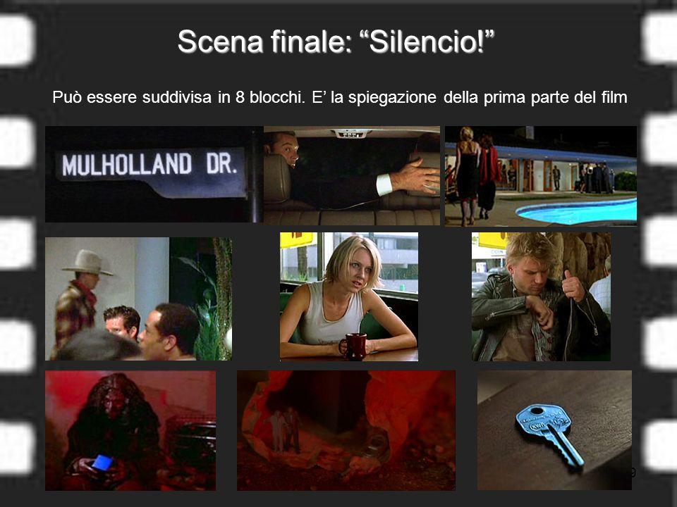 19 Scena finale: Silencio. Può essere suddivisa in 8 blocchi.