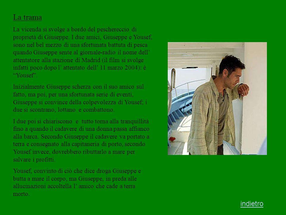 Raoul Bova interpreta Giuseppe Il cast Giovanni Martorana interpreta Yousef Mohsen Melliti è il regista del film indietro