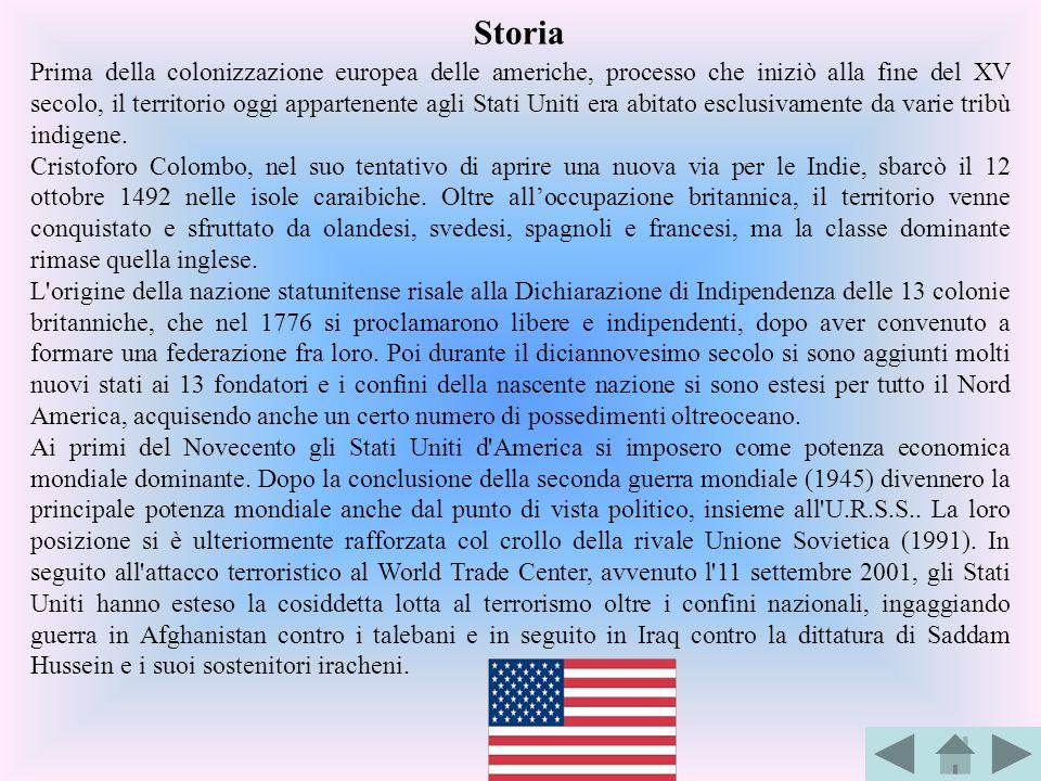 Prima della colonizzazione europea delle americhe, processo che iniziò alla fine del XV secolo, il territorio oggi appartenente agli Stati Uniti era a