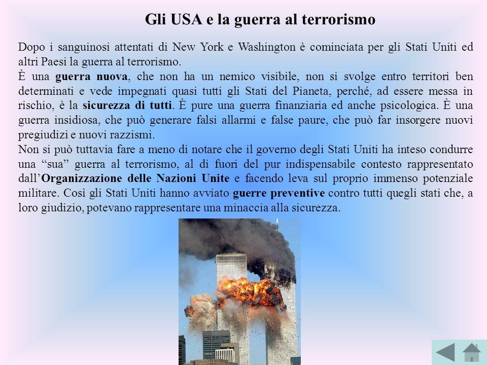 Dopo i sanguinosi attentati di New York e Washington è cominciata per gli Stati Uniti ed altri Paesi la guerra al terrorismo. È una guerra nuova, che