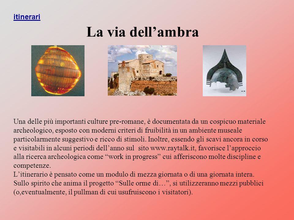 Una delle più importanti culture pre-romane, è documentata da un cospicuo materiale archeologico, esposto con moderni criteri di fruibilità in un ambiente museale particolarmente suggestivo e ricco di stimoli.