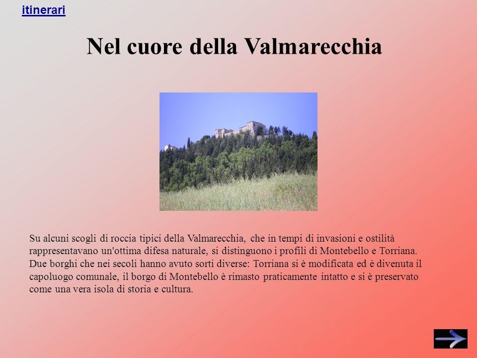 Nel cuore della Valmarecchia Su alcuni scogli di roccia tipici della Valmarecchia, che in tempi di invasioni e ostilità rappresentavano un ottima difesa naturale, si distinguono i profili di Montebello e Torriana.
